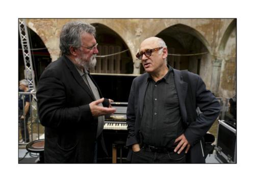 Michael Nyman and Evan Parker - ph Roberto Masotti