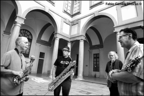 Rova Saxophone Quartet - ph Fabio Gamba