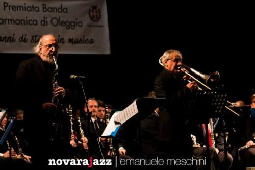 Banda Filarmonica di Oleggio con Trovesi  Migliardi - ph Emanuele Meschini
